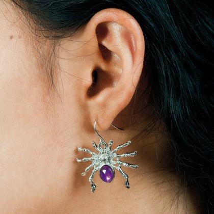 Bild von Strass Ohrringe Spinne