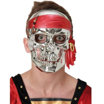 Bild Pirat mit Totenkopf Maske
