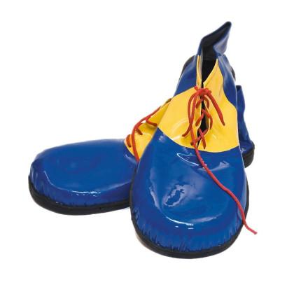 Bild gigantische Clown Schuhe gelb/blau