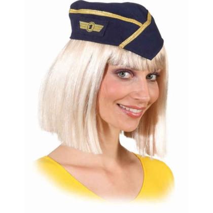 Stewardess Mütze - Schiffchen