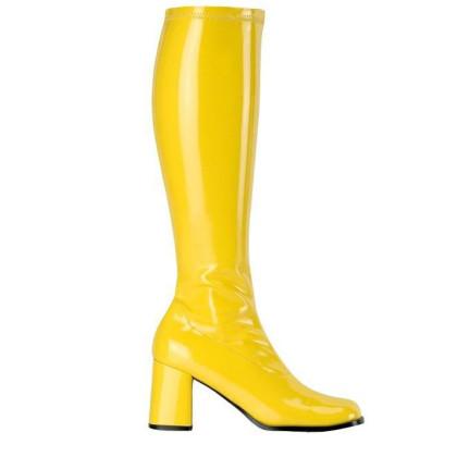 Stiefel gelb 60er Jahre & 70er Look Damenstiefel gelb