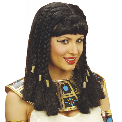 Cleopatra Perücke mit schwarzen Zöpfe