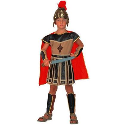 Kind als Römer verkleidet