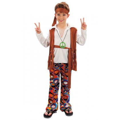 Karnevalskostüm Hippie Junge
