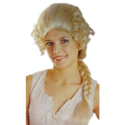 Blonde Zöpfe mit junger Frau im histroischen Stil
