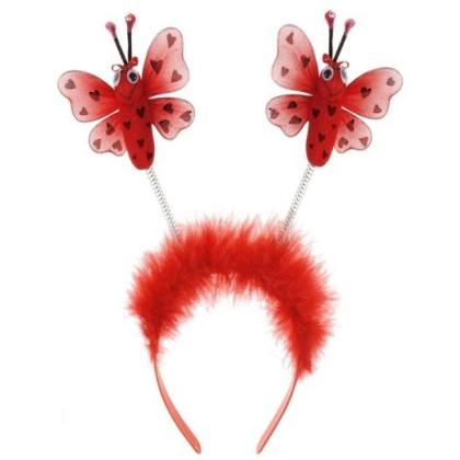 Haareif Marienkäfer in rot mit Fühlern