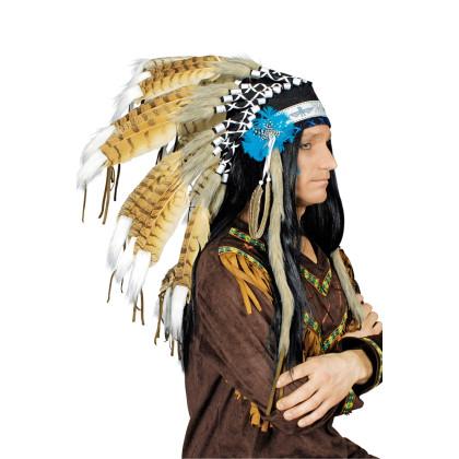 Authentischer Federschmuck Indianer hochwertig