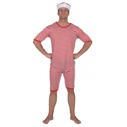 Badeanzug gestreift