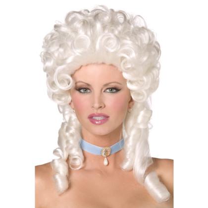 Barock Frisur Perücke Damen weiss blond