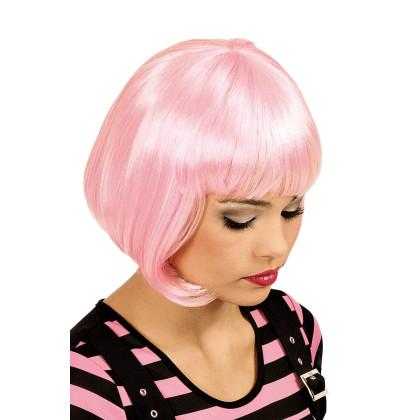 Bob Frisurperücke rosa