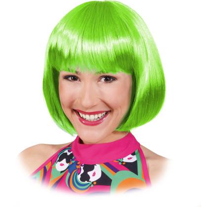 Bop Frisur Pagekopf grün neongrün Perücke