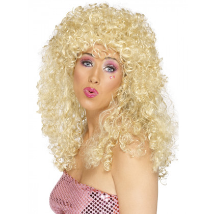 Achziger Jahre Frisurperücke blond mit Dauerwelle