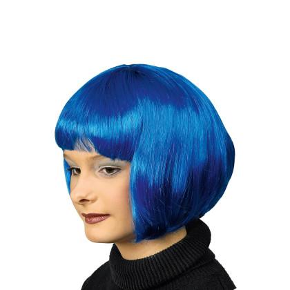 Bop Frisur Perücke in blau