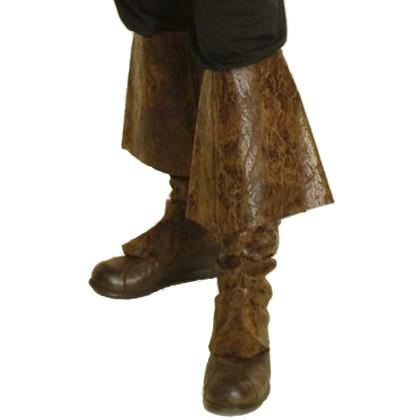 Leder Stiefelstulpen Lederimitat Stulpen Pirat historisch
