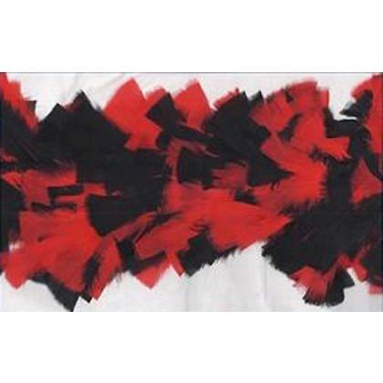 Federboa rot/schwarz Deluxe