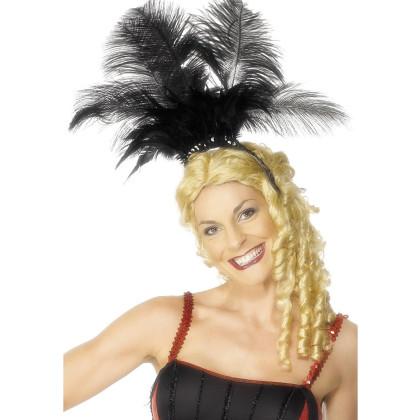 Feder Kopfschmuck Burlesk Can Can Tänzerin Moulin Rouge