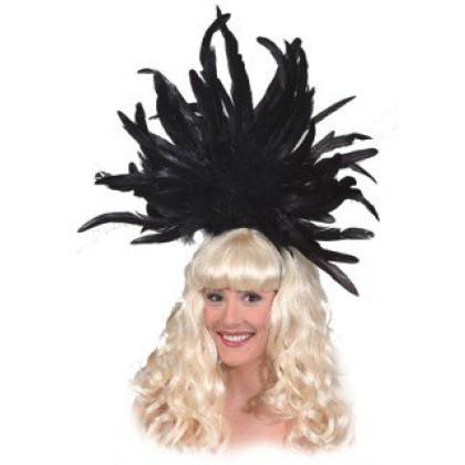Federkopfschmuck Samba in schwarz mit Haarreif