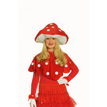 Frau mit Fliegenpilz Umhang Cape (Flieggenpilz Hut nicht inklusive)