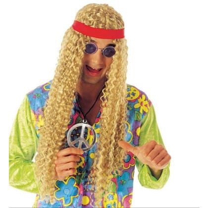 Perücke Hippie Frisur lange blonde Haare
