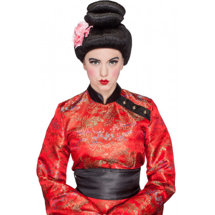Geisha Perücke vorne