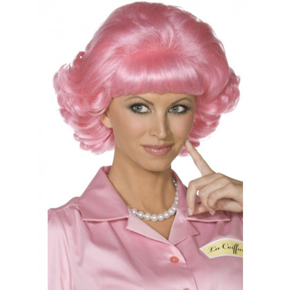 Grease Pink 50s - Beehive 50th Style Frisur in Pink.