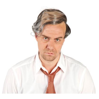 Halbglatze Latex mit grauen Haaren