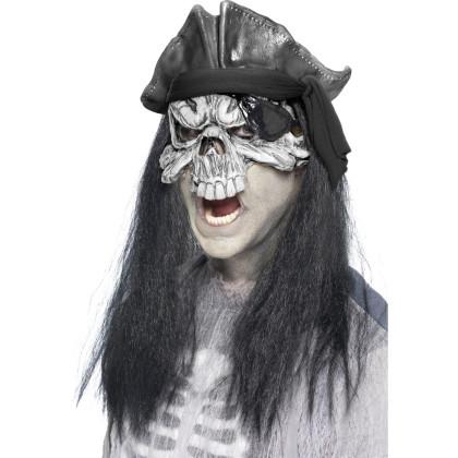 Ghostmaske m. Haare