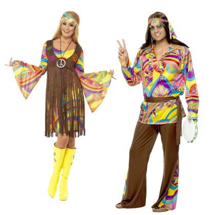 Hippie Paar Multicolor