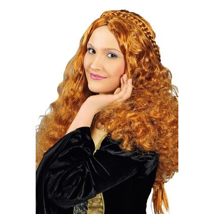 Kostümperücke historische Frisur irisch rot mit Zöpfen