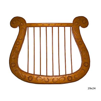Kostüm- und Theaterzubehör Harfe Gold