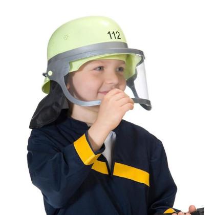 Helm Feuerwehr für Kinder mit Visier Deutsche Version