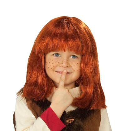 Junge mit Kinderperücke Wicky - rote Haare