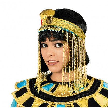Kopfschmuck Ägypten Pharaonin in gold mit Schange