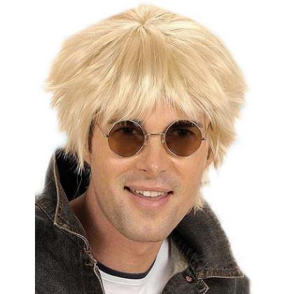 Pop- und Filmstar Perücke mit kurzen blonden Haarschnitt
