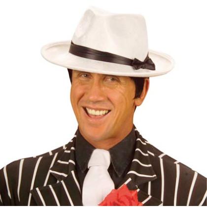 Mafiosi Hut weiß Gangster und Ganoven Borsalino Stil
