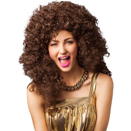 80er Frisur braune Dauerwelle