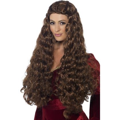 Mittelalter Frisur Perücke hochwertig lange Haare