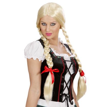 Zopfperücke blond - flechtzopf