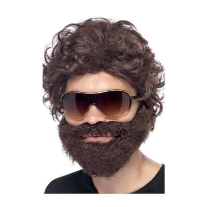 Perücke mit Bart wie Alan aus Hangover