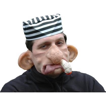 Partymaske 100% Naturlatex mit witzigen Ganove und Milieu Gesicht als Maske