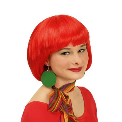 Frau mit roter Perücke