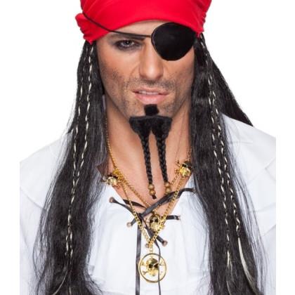Sparrow Piraten Bart für Kinn wie Jack Pirat