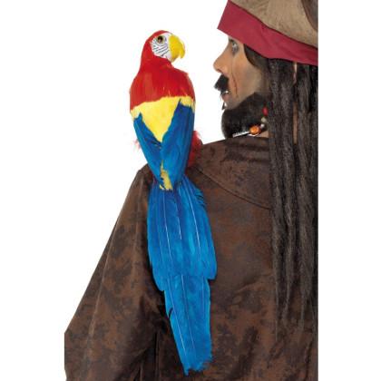 Lustiger Piraten Papagei mit Schulterhalterung