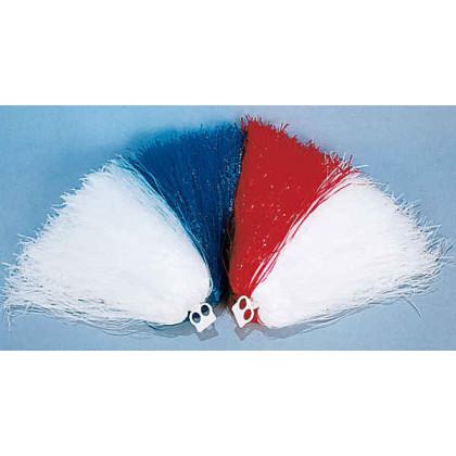 Cheerleader Büschel - Pom-Pons in weiß blau Puschel
