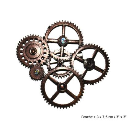 Retro Brosche Steampunk Zahnrad