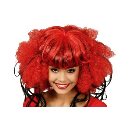 Rot Karnevalsperücke ausgefallen für Damen