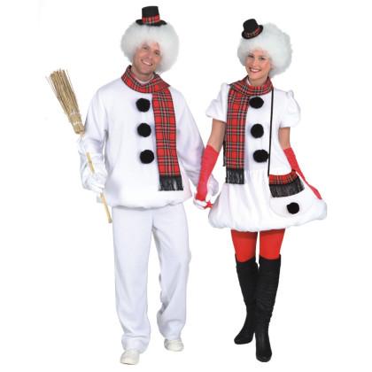 paar als schneemann und schneefrau winterkost m. Black Bedroom Furniture Sets. Home Design Ideas