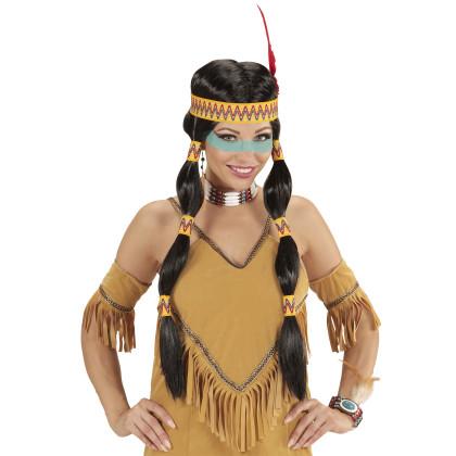 Squaw Indianer Perücke Dame