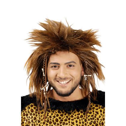 Steinzeit Frisur-Perücke Neandertaler Zottel Haare