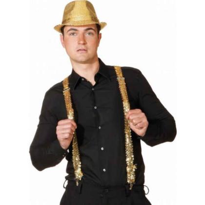 Hosenträger Pailletten in gold